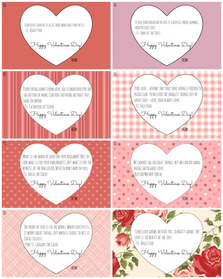 Free Printable Valentines Day Cards For Her