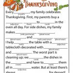 Celebrating Thanksgiving Mad Lib | Woo! Jr. Kids Activities   Free Printable Thanksgiving Mad Libs