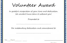 Certificate And Award Templates Simple Volunteer Award Template – Free Printable Volunteer Certificates Of Appreciation