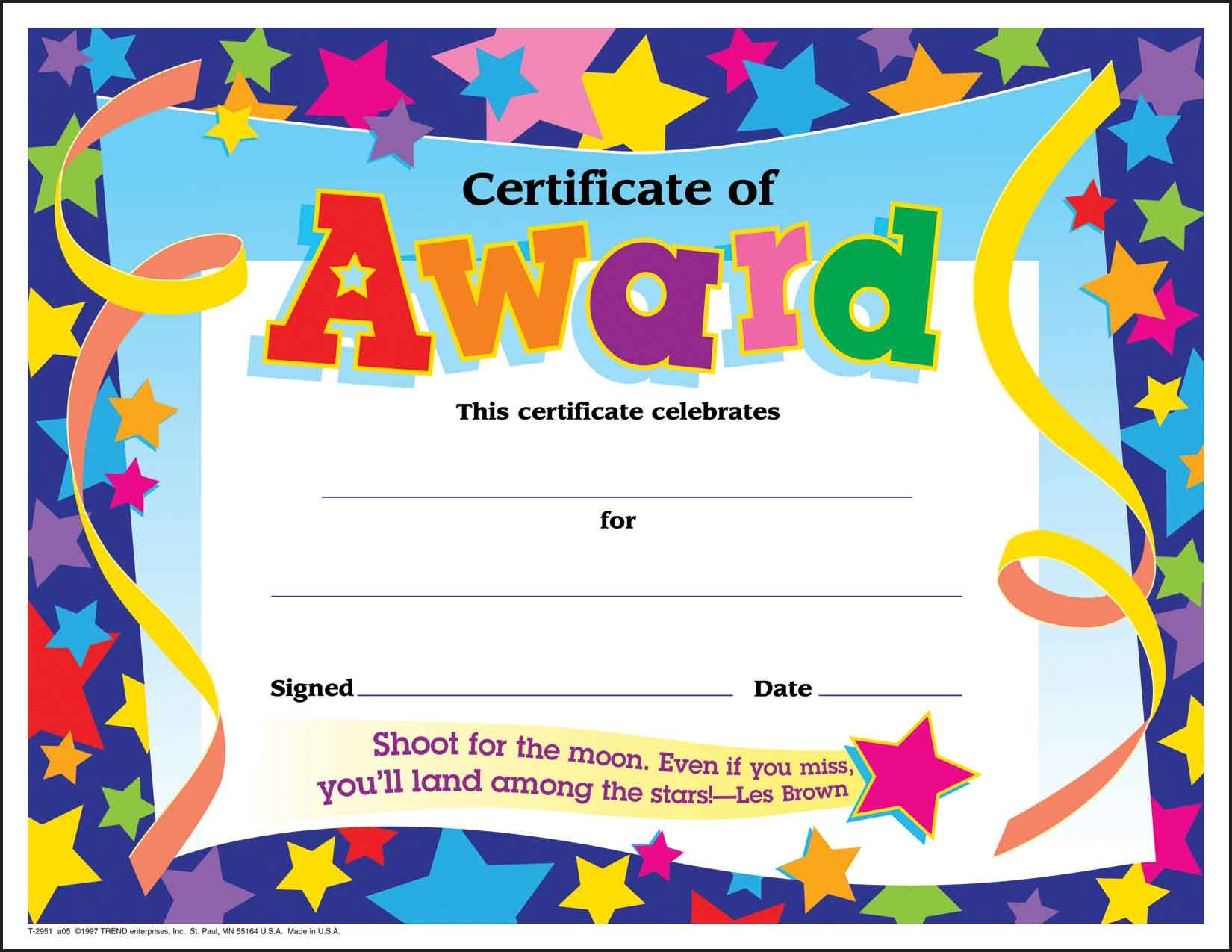 Certificate Template For Kids Free Certificate Templates - Free Printable Children's Certificates Templates