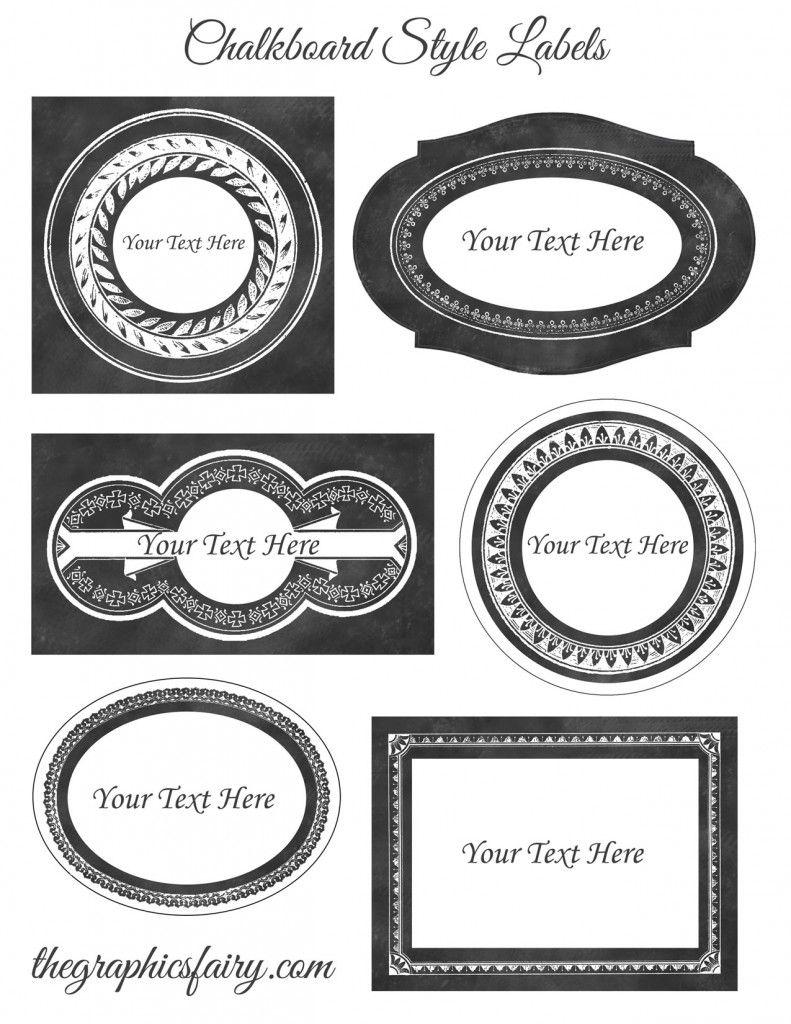 Chalkboard Style Printable Labels - Editable! So Cool! You Can - Free Customizable Printable Labels
