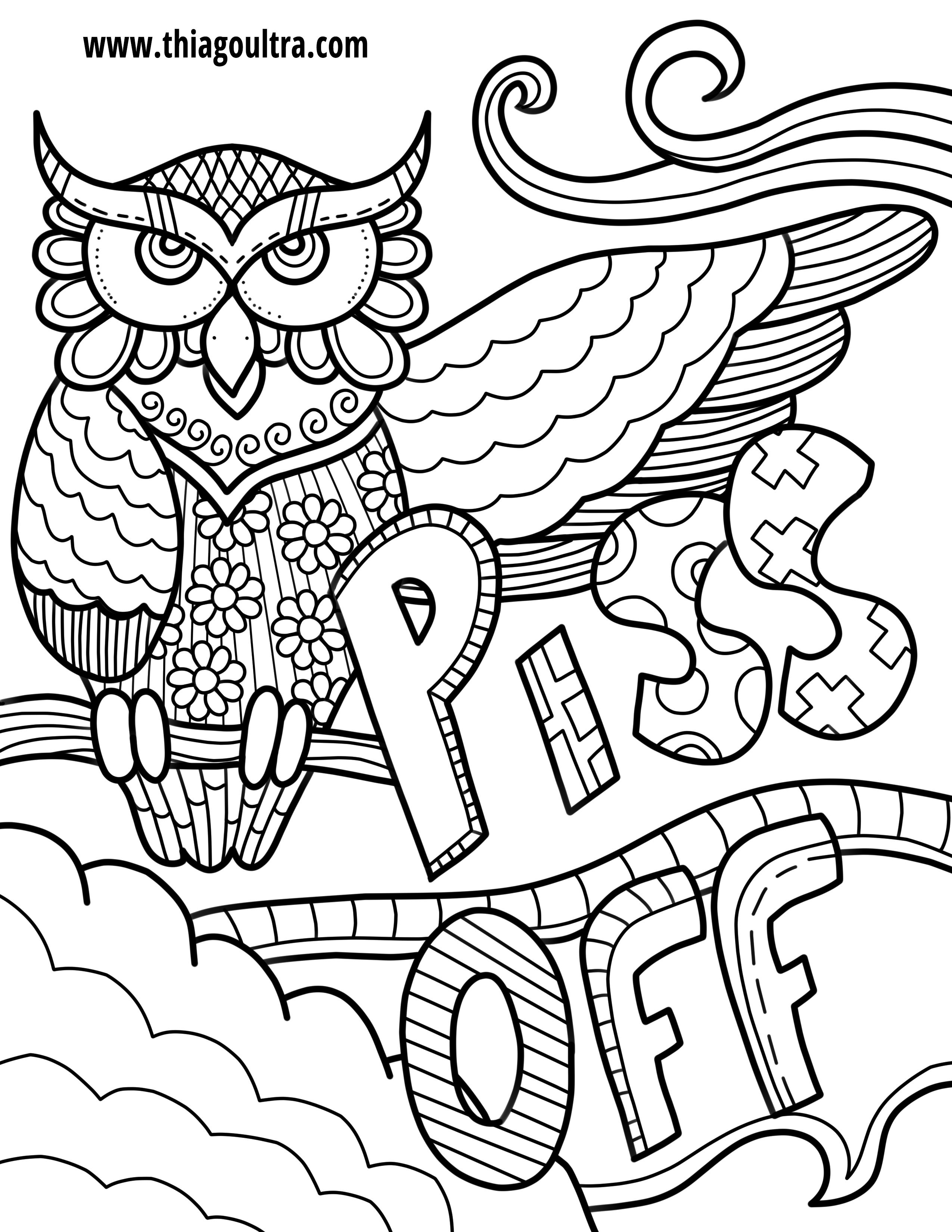 Challenge Free Printable Coloring Pages For Adults Only Swear Words - Free Printable Coloring Pages For Adults Only Swear Words