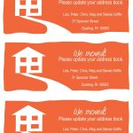 Change Of Address Cards, A Fun Example. Free Printable In Your   We Are Moving Cards Free Printable