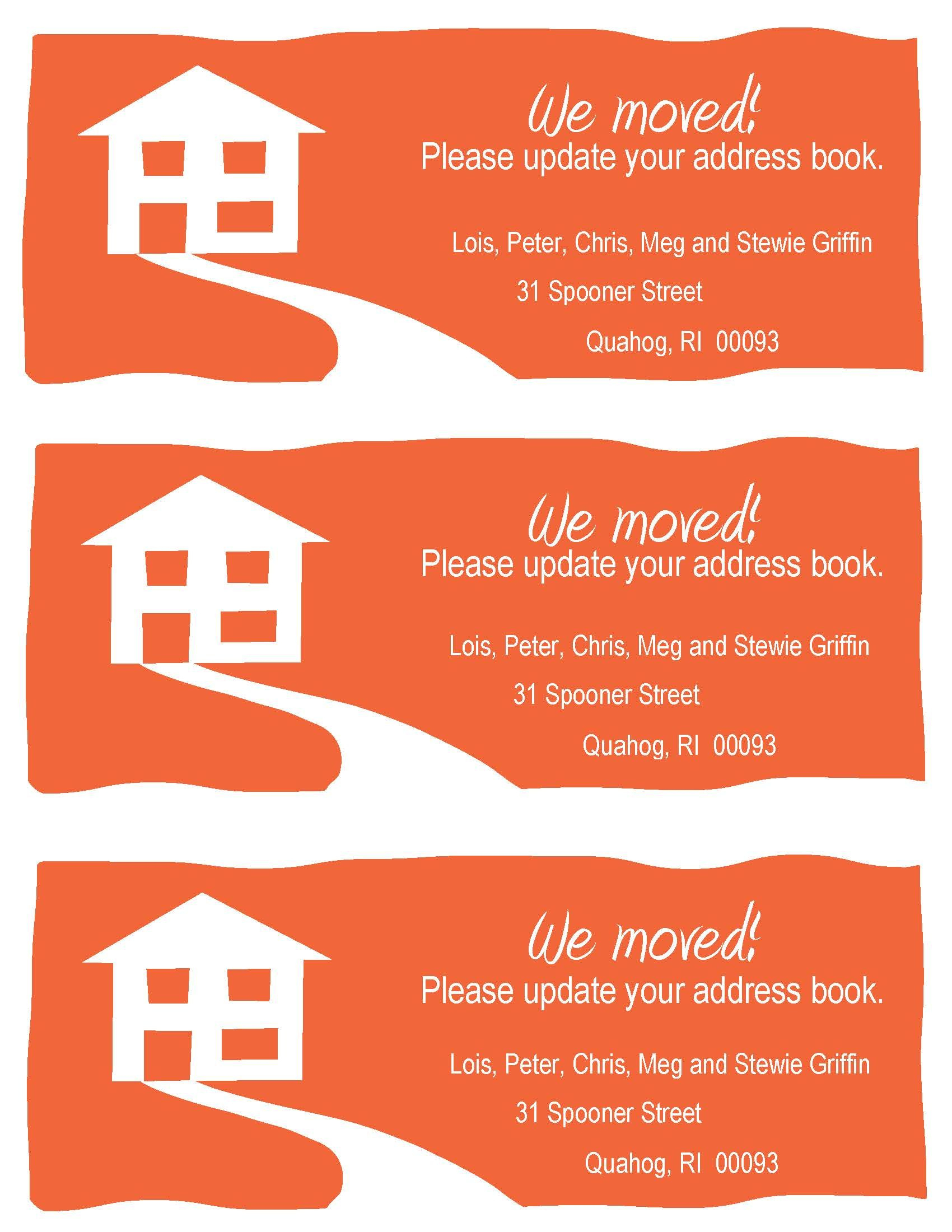 Change-Of-Address Cards, A Fun Example. Free Printable In Your - We Are Moving Cards Free Printable