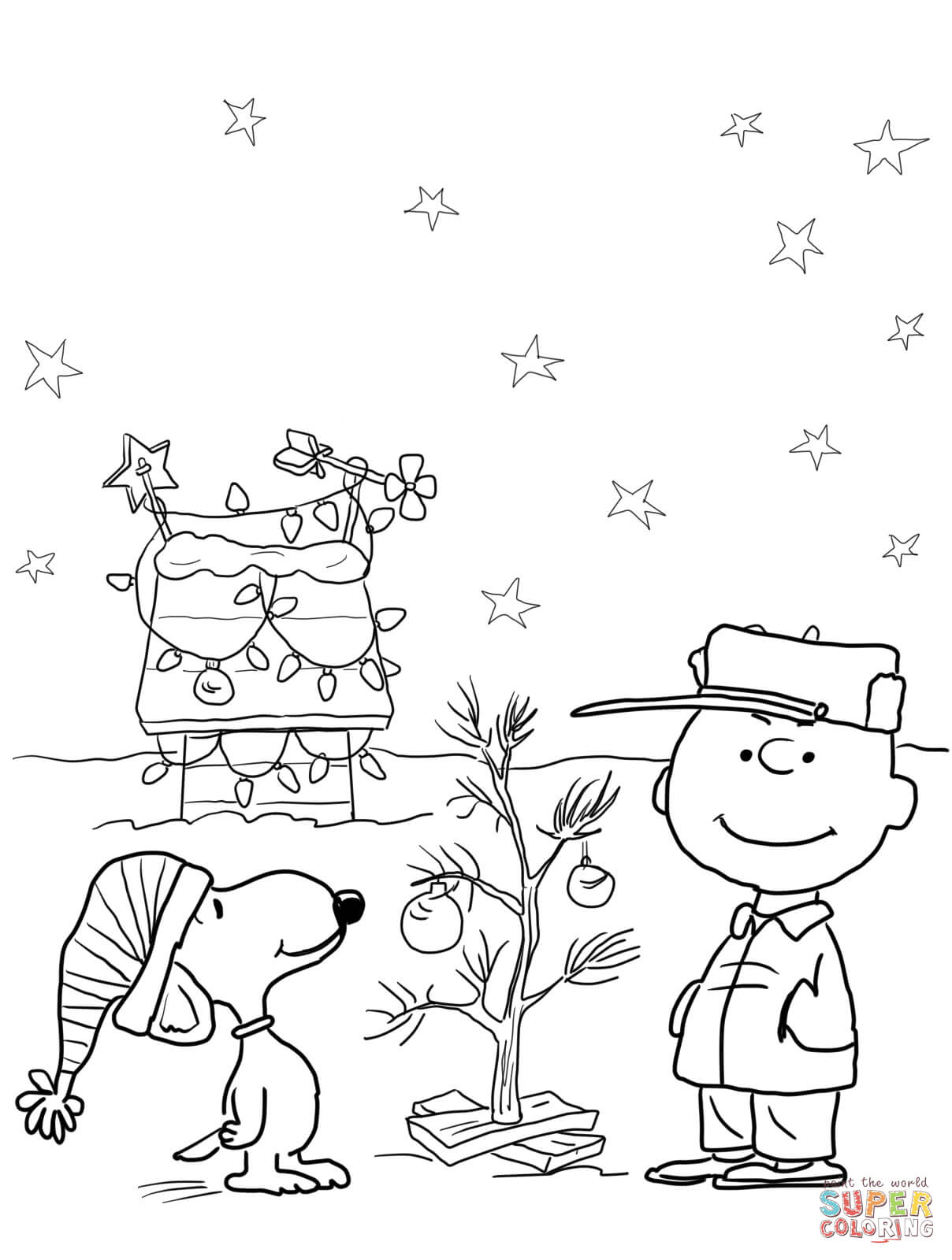 Charlie Brown Christmas Coloring Page | Free Printable Coloring Pages - Xmas Coloring Pages Free Printable