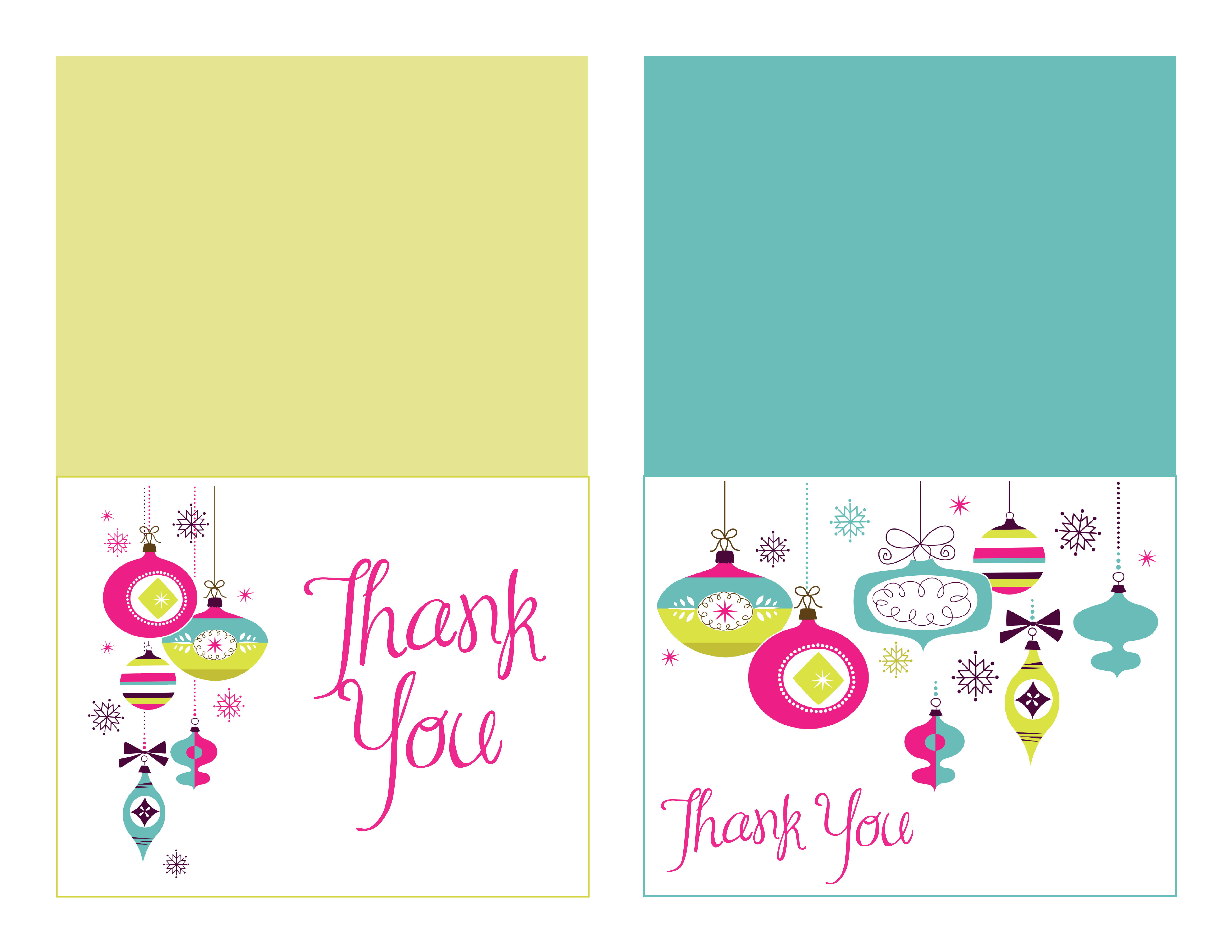 Charming Ideas Thank You Cards Christmas Free Christmas Thank You - Free Christmas Thank You Notes Printable