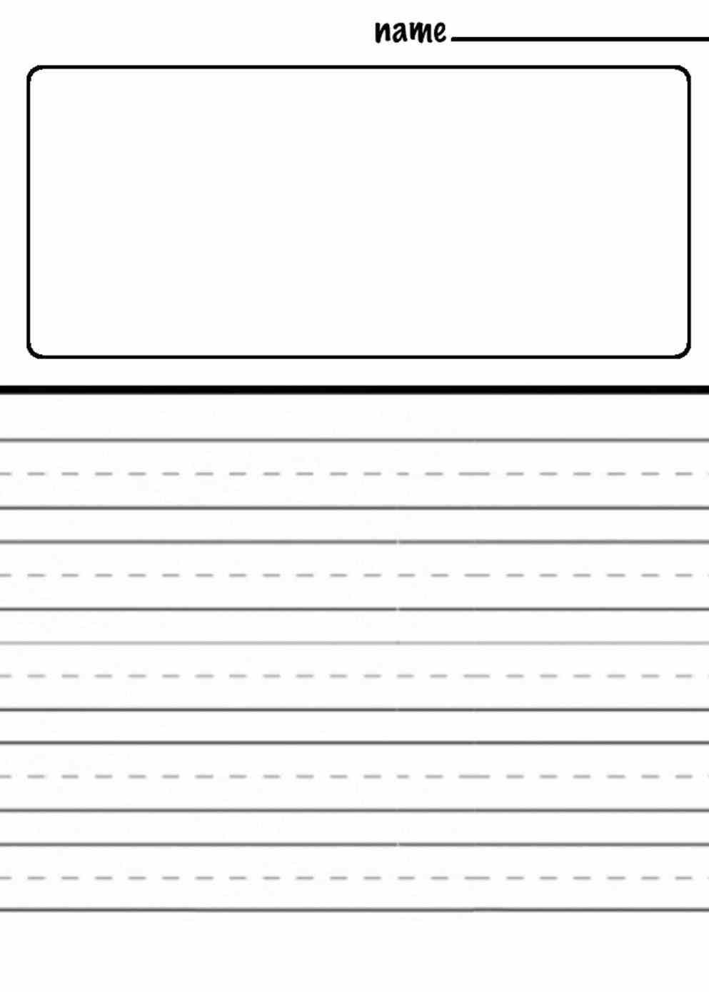 Charming Kindergarten Handwriting Paper Template Gallery Entry - Free Printable Kindergarten Lined Paper Template