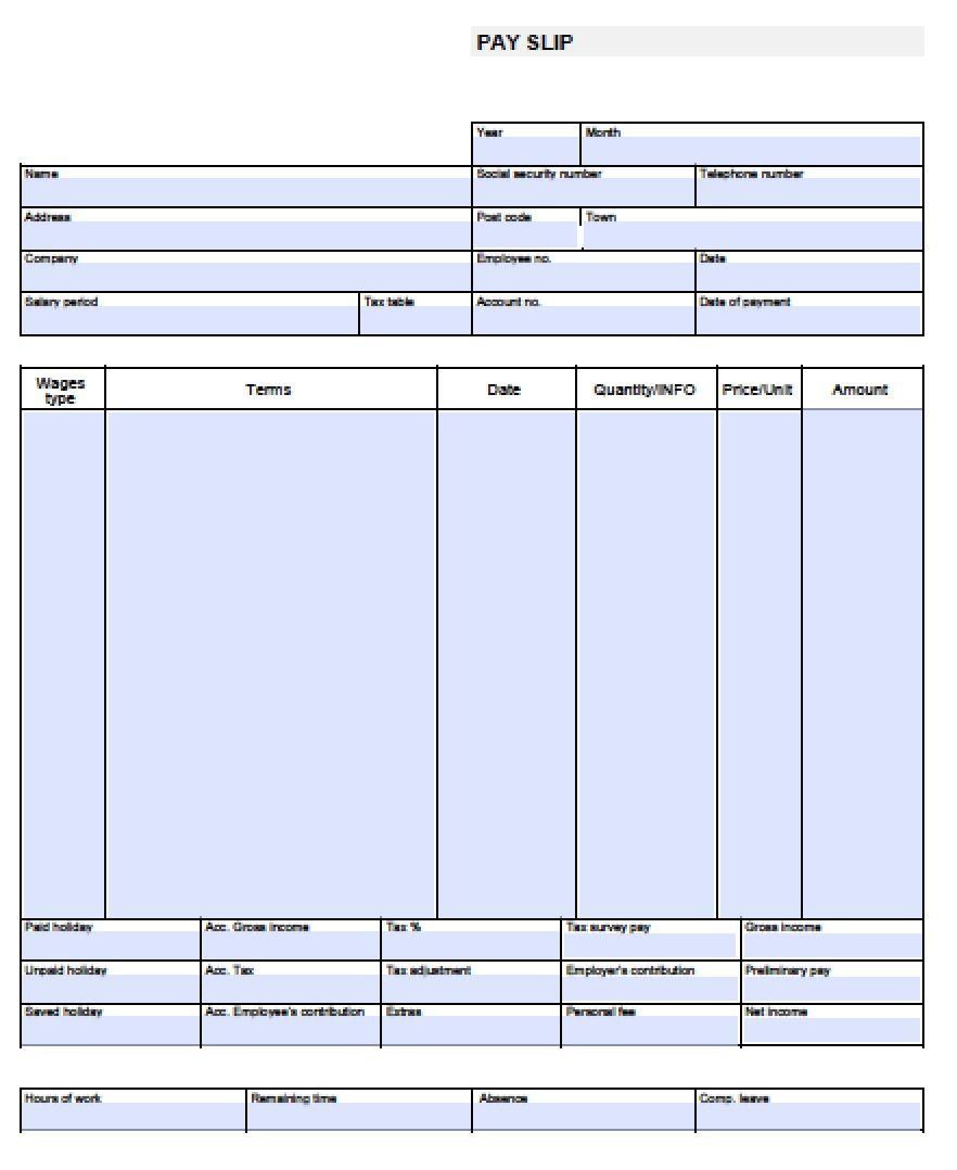 Check Stub Template Free | Pay Stub Template Free Blank-Usa-Pay-Stub - Free Printable Blank Check Stubs
