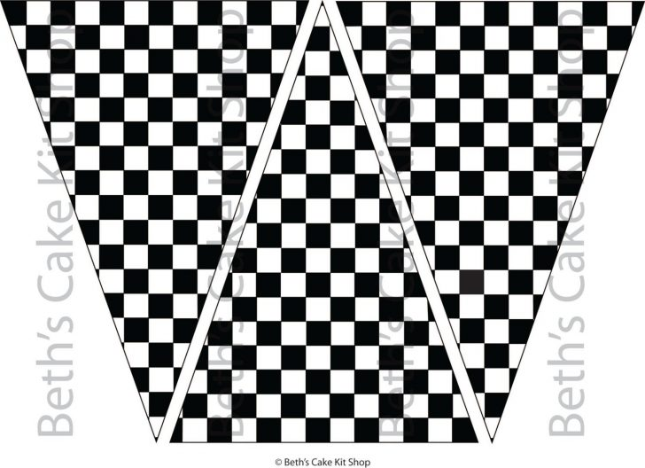 Free Printable Checkered Flag Banner
