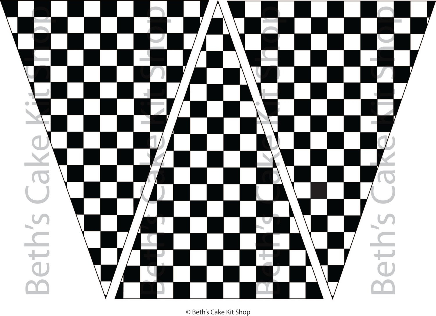 Checkered Flag Bunting Banner Download Party Backdrop | Etsy - Free Printable Checkered Flag Banner