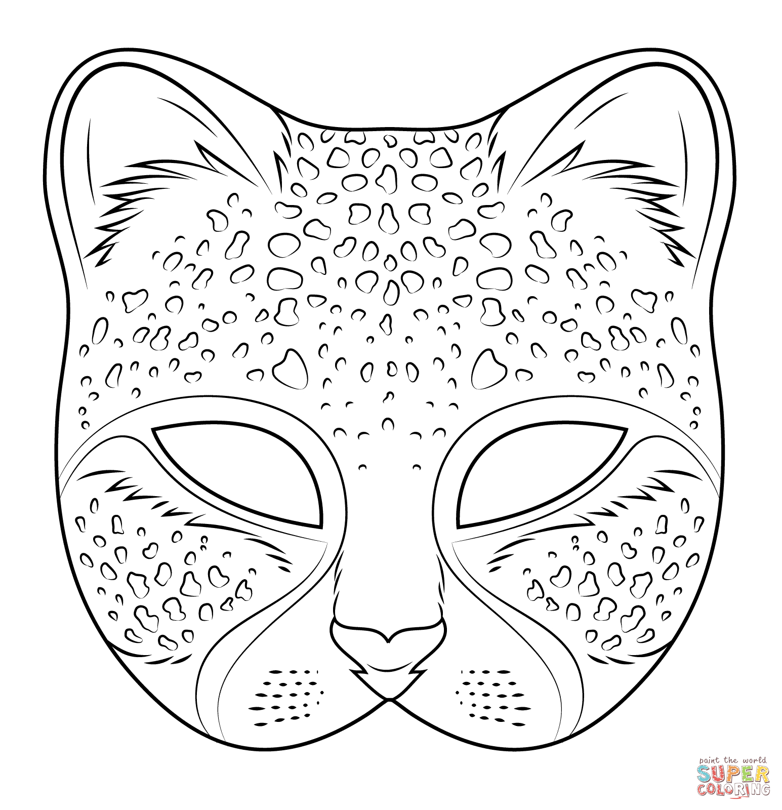Cheetah Mask | Super Coloring … | Karneval | Pinte… - Animal Face Masks Printable Free