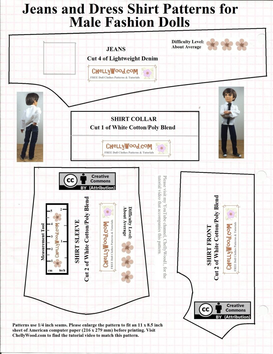 "Chelly Wood On Twitter: ""free Printable Ken #dolls Clothes #sewing - Ken Clothes Patterns Free Printable"