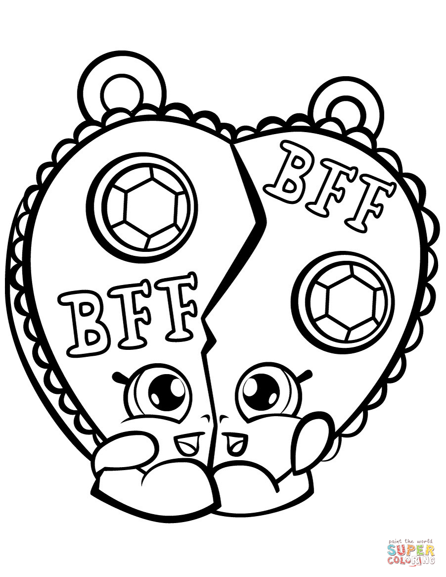 Chelsea Charm Shopkin Coloring Page | Free Printable Coloring Pages - Free Printable Bff Coloring Pages