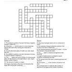Chemistry Themed Crossword Puzzle | Free Printable Children's   Free Printable Themed Crossword Puzzles