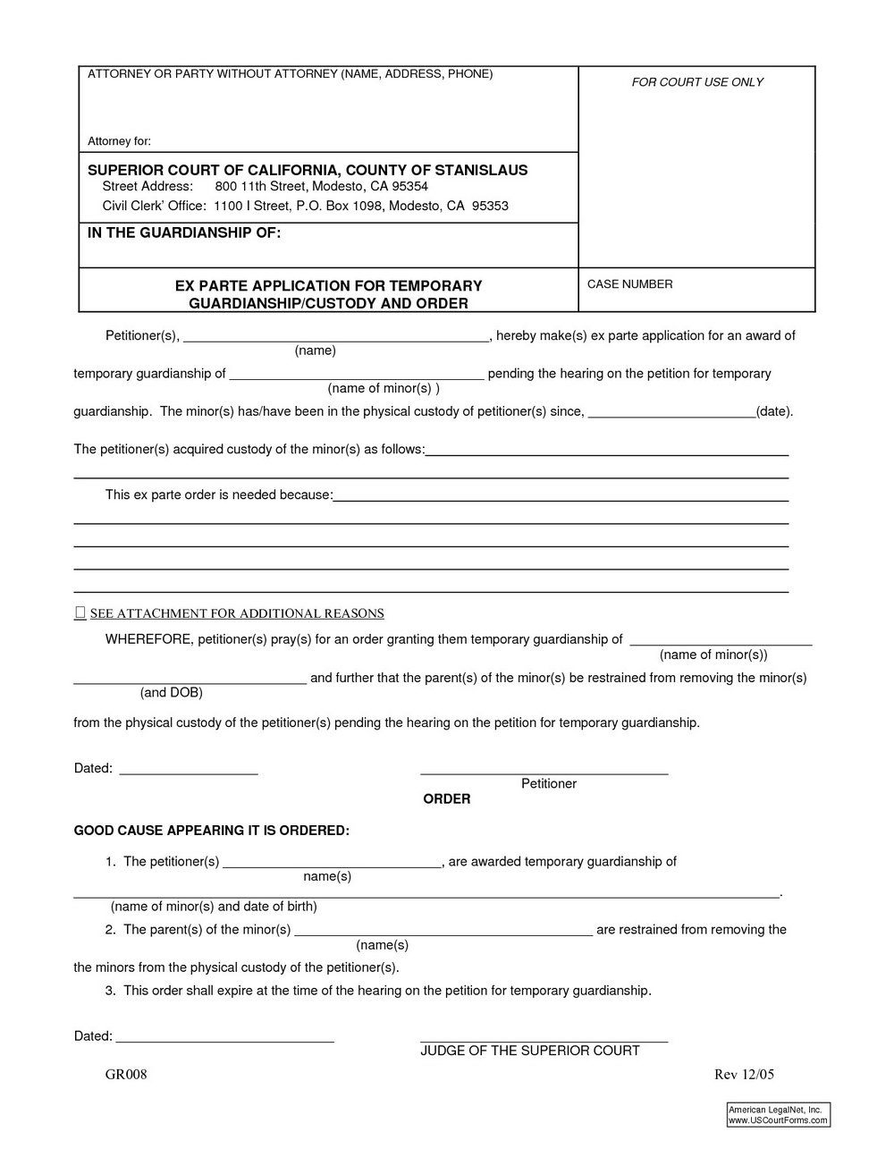 Child Guardianship Forms California #346410004921 – Legal - Free Printable Child Guardianship Forms