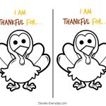 Children's Thanksgiving Activity | Thankful Turkeys   Elevate Everyday   Free Turkey Cut Out Printable