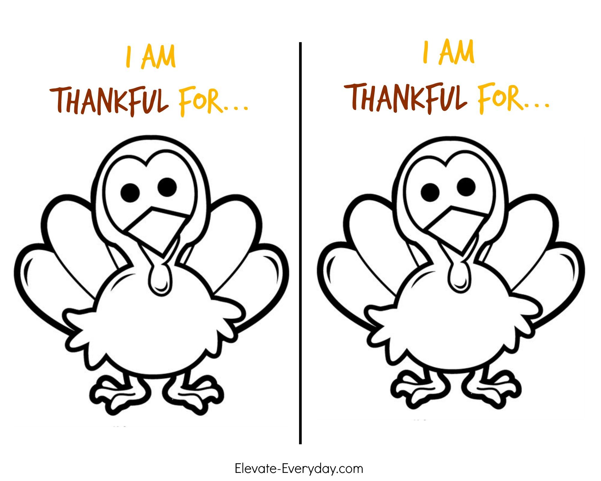 Children's Thanksgiving Activity | Thankful Turkeys - Elevate Everyday - Free Turkey Cut Out Printable