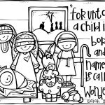 Christian Christmas Activities: Free Nativity Coloring Page From   Free Printable Christmas Baby Jesus Coloring Pages