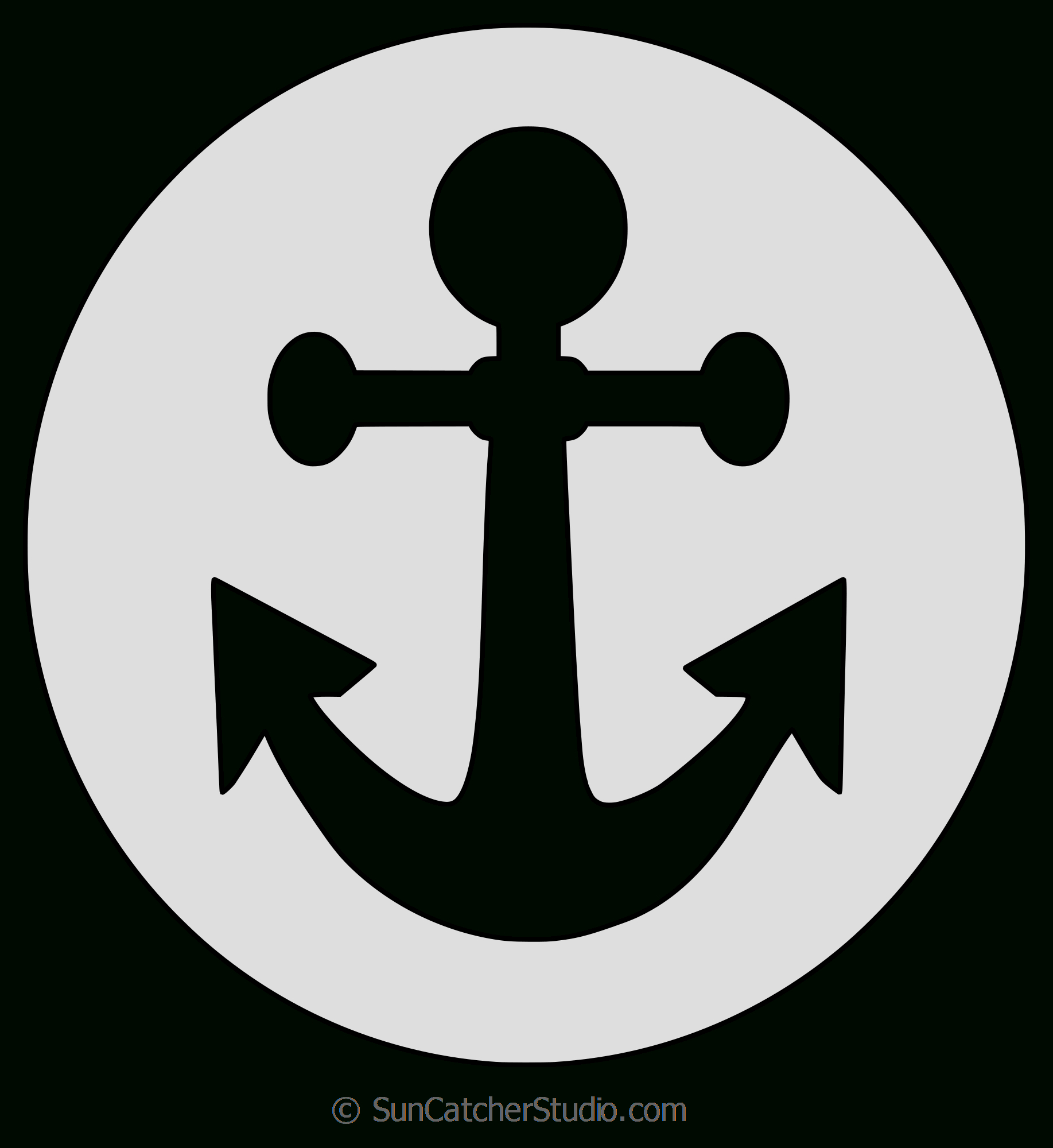 Christian Patterns And Religious Stencils And Templates (Jpg, Svg) - Free Printable Anchor Template
