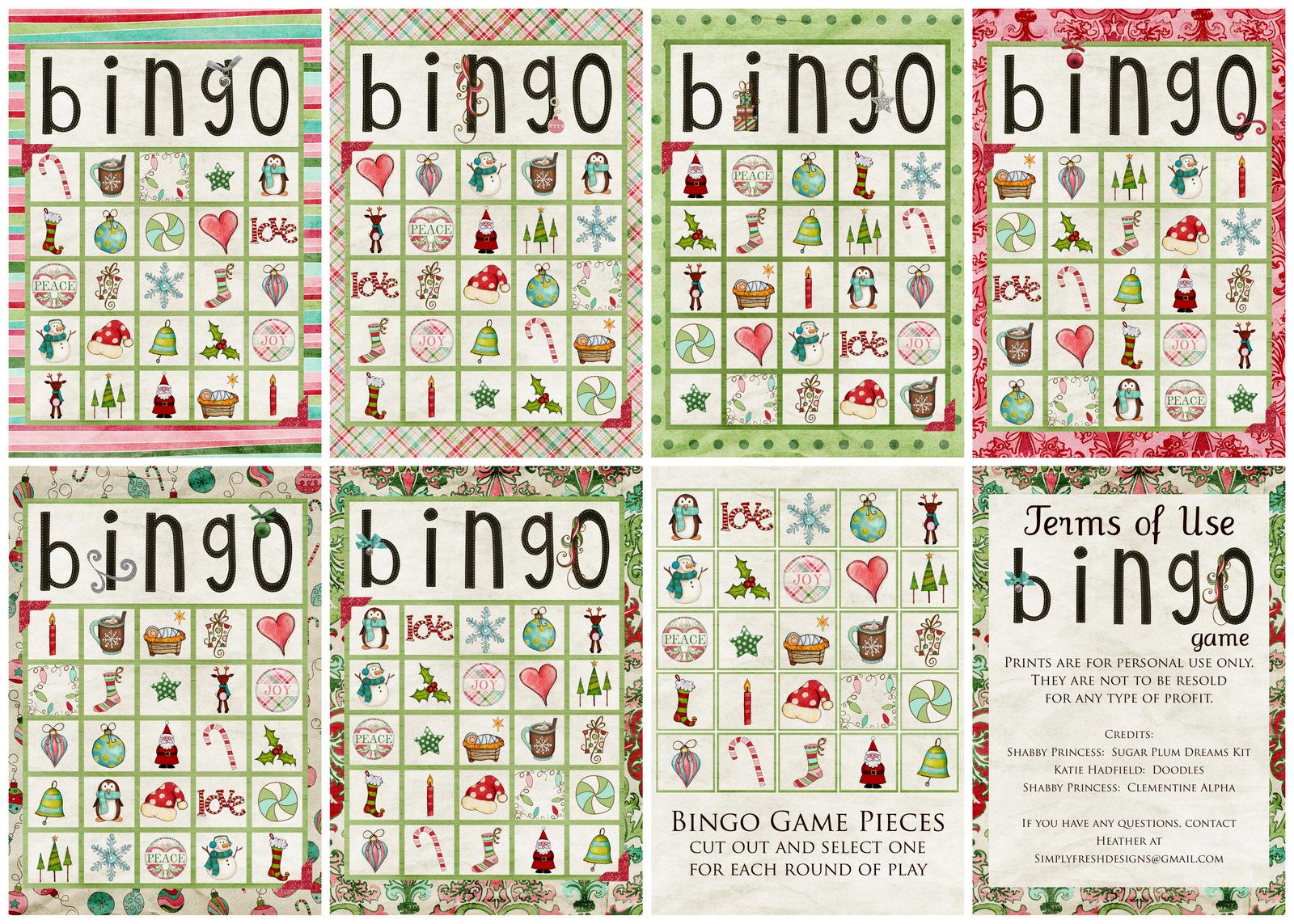 Christmas Bingo Game - Simply Fresh Designs - Christmas Bingo Game Printable Free