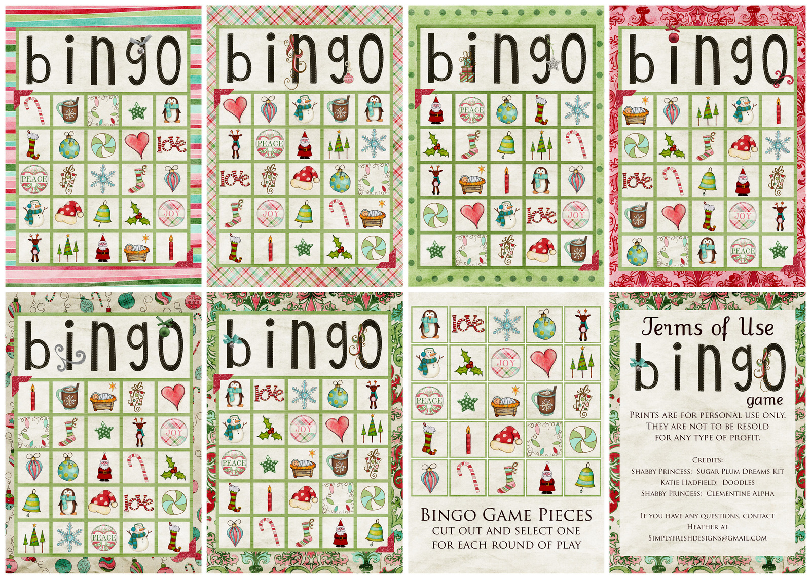 Christmas Bingo Game - Simply Fresh Designs - Free Printable Spanish Bingo Cards