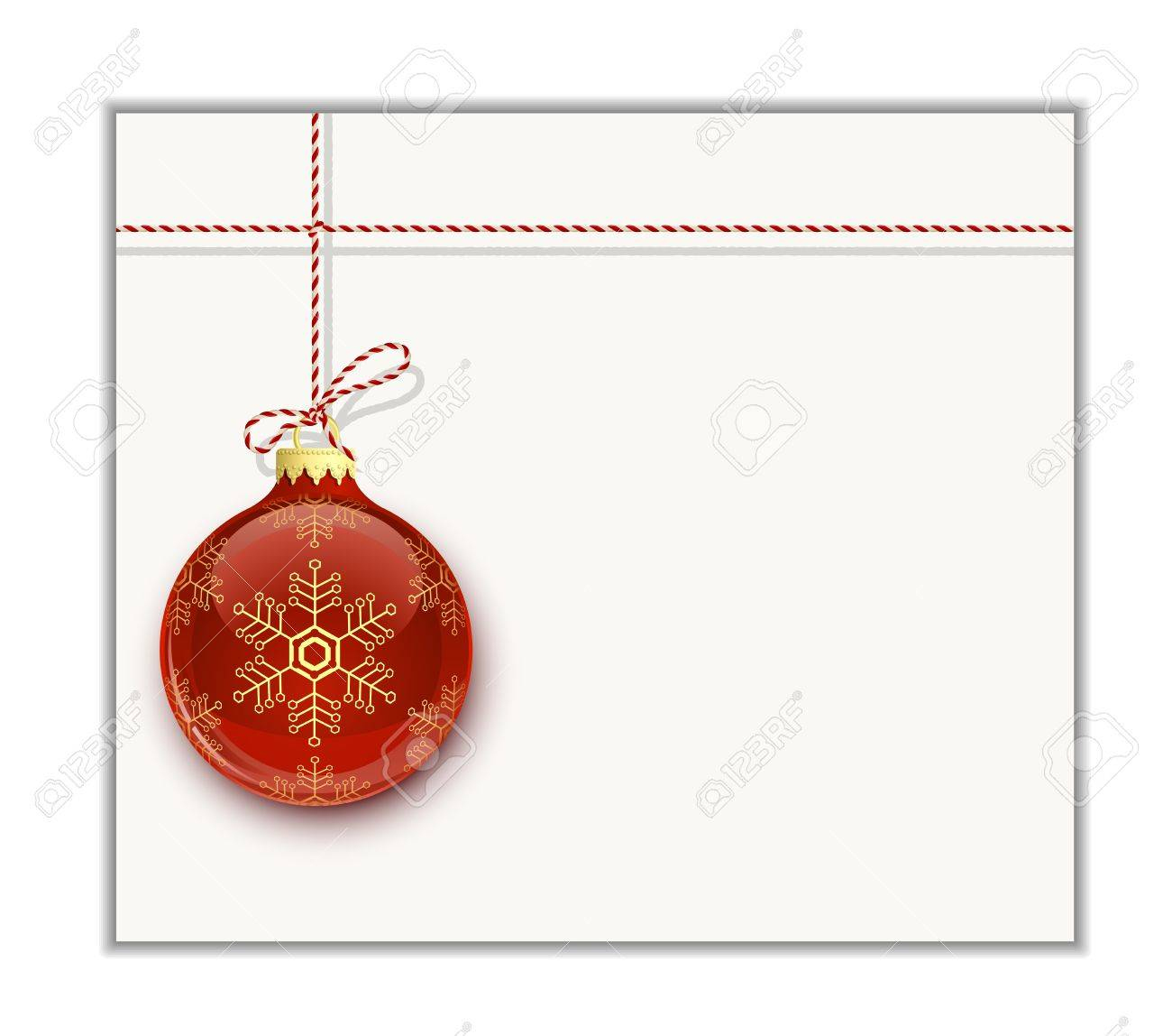 Christmas Card Template. Christmas Bauble On White Royalty Free - Free Online Printable Christmas Cards