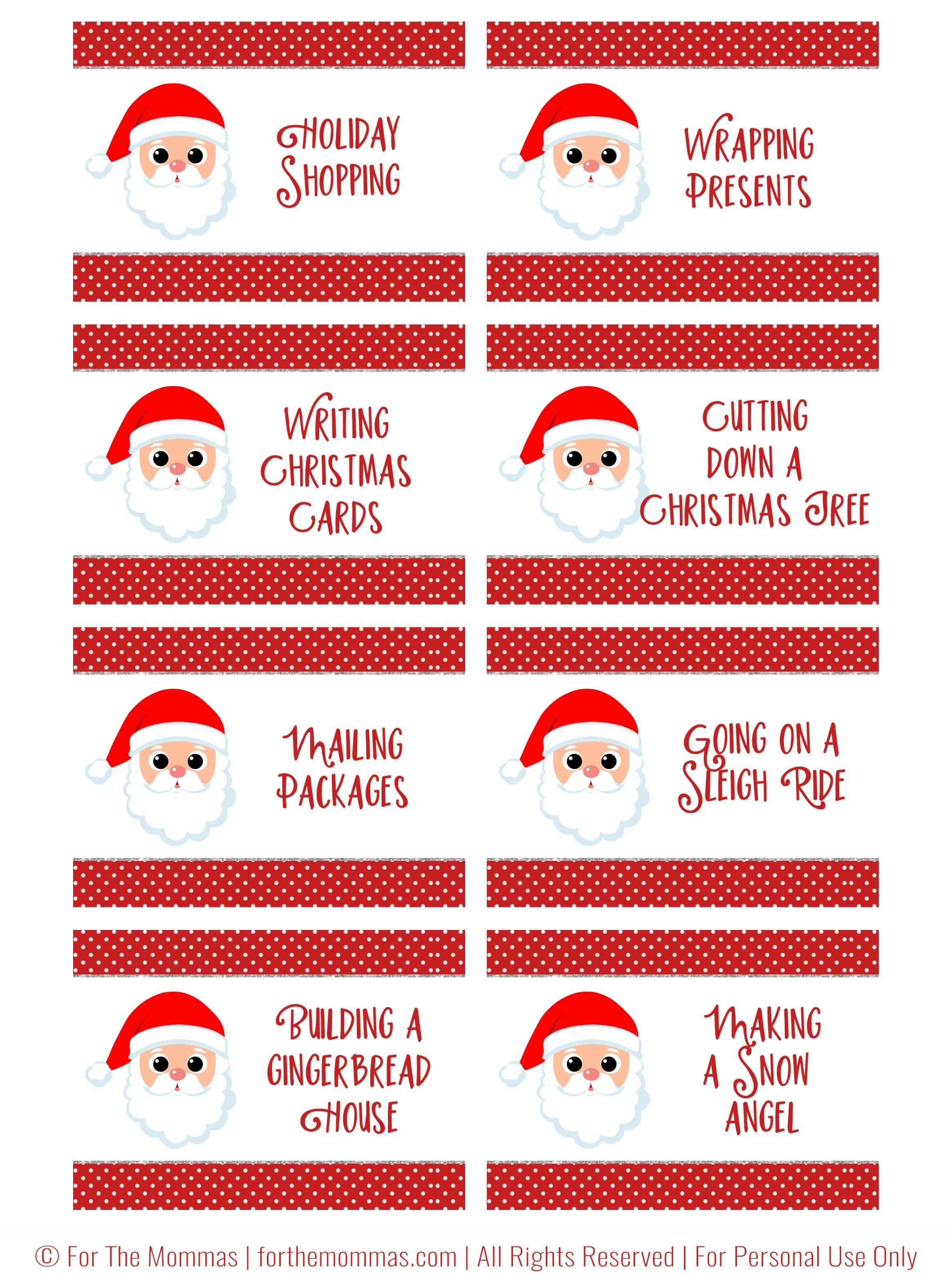 Christmas Charades Free Printable - Start A New Holiday Tradition - Ftm - Free Printable Charades Cards