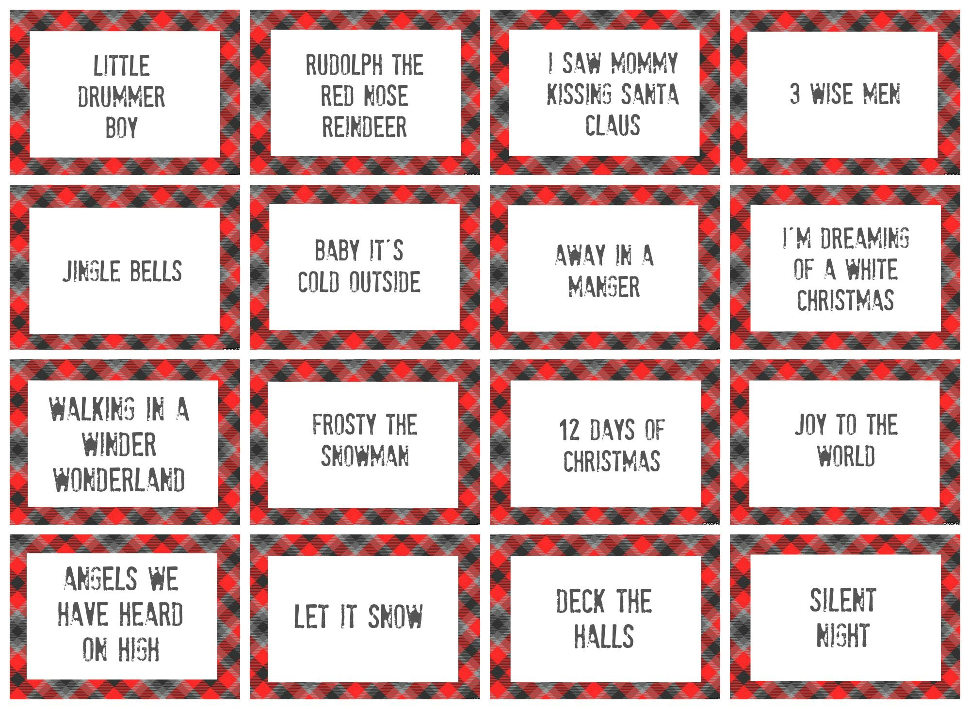 Christmas Charades Game And Free Printable Roundup | Christmas - Free Printable Charades Cards