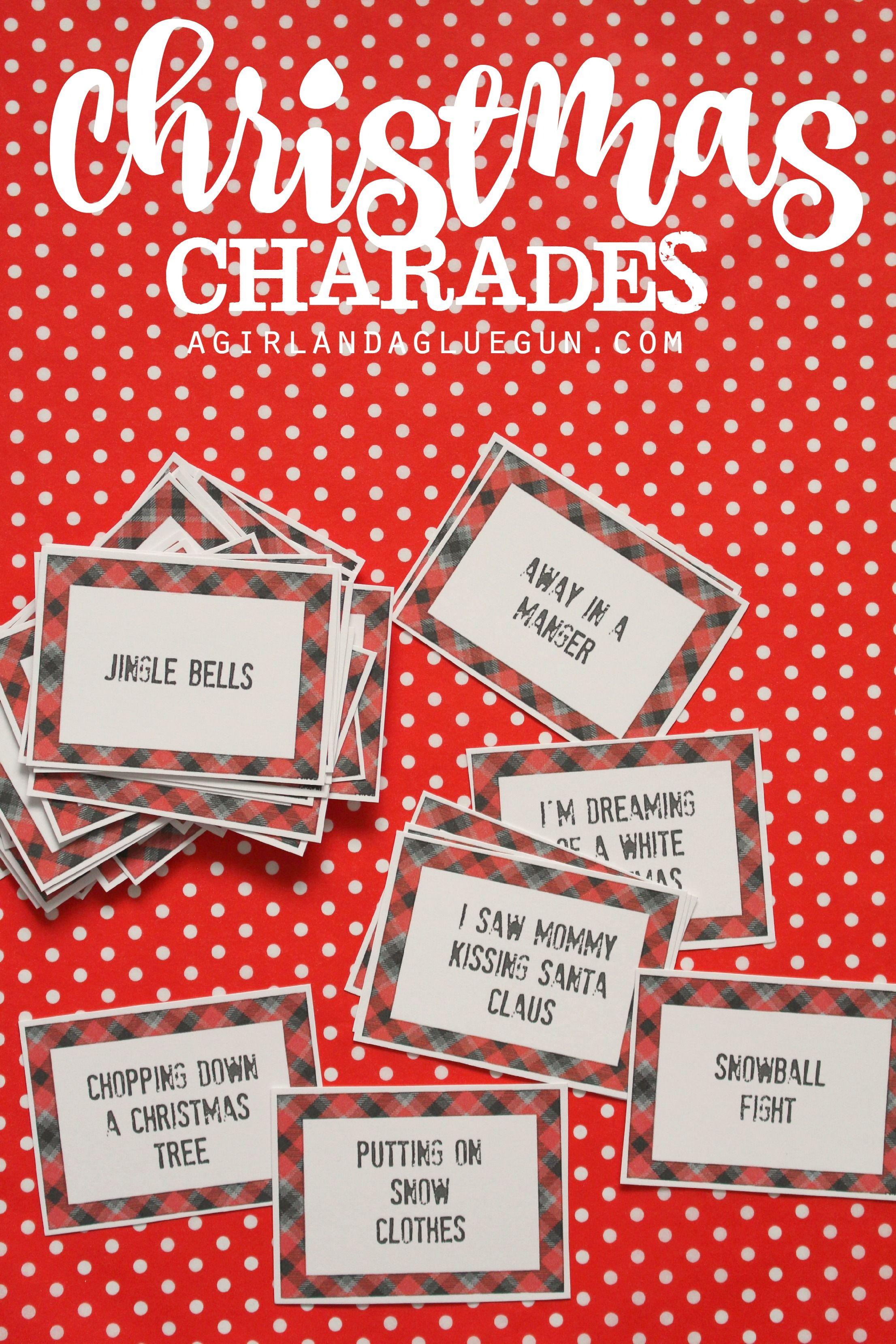 Christmas Charades Game And Free Printable Roundup | Holiday - Free Printable Christmas Charades Cards