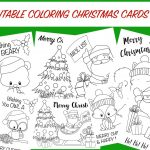 Christmas Coloring Cards   Free Printable Christmas Activity For Kids   Free Printable Cards To Color