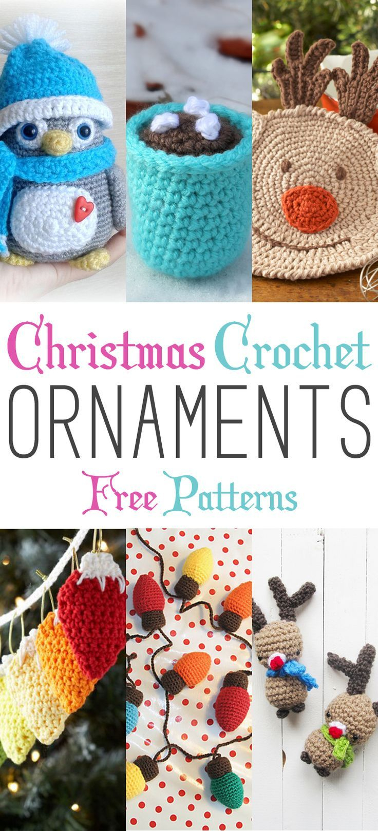 Christmas Crochet Ornaments With Free Patterns - Free Printable Christmas Crochet Patterns