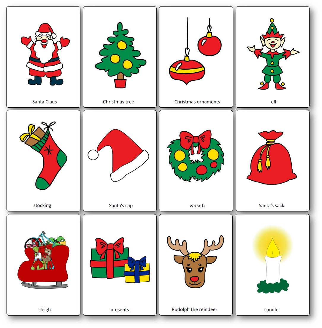 Christmas Flashcards - Free Printable Flashcards To Download - Speak - Free Printable Vocabulary Flashcards
