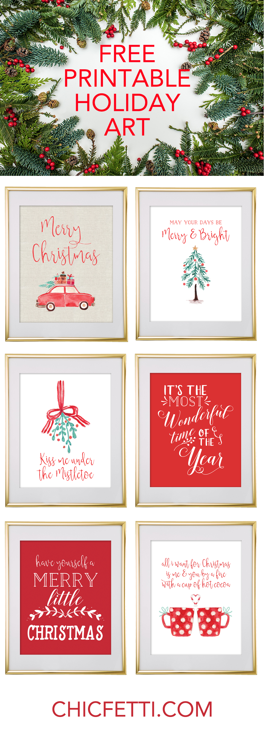 Christmas Free Printable Wall Art - Download Free Christmas Art - Free Printable Christmas Pictures