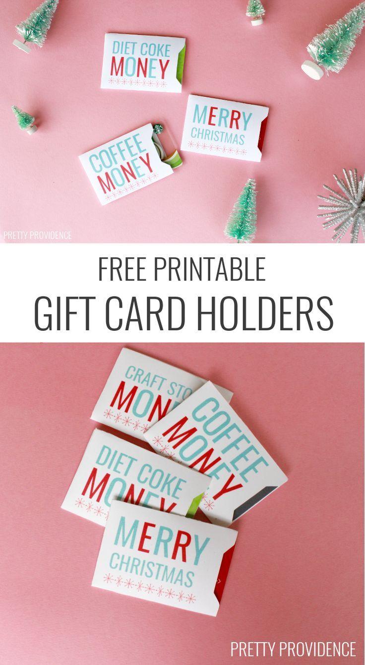 Christmas Gift Card Sleeves - Free Printable! | Free Printables - Free Printable Christmas Money Holder Cards