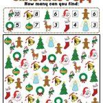Christmas I Spy   Free Printable Christmas Counting Worksheet   Free Printable Christmas Board Games