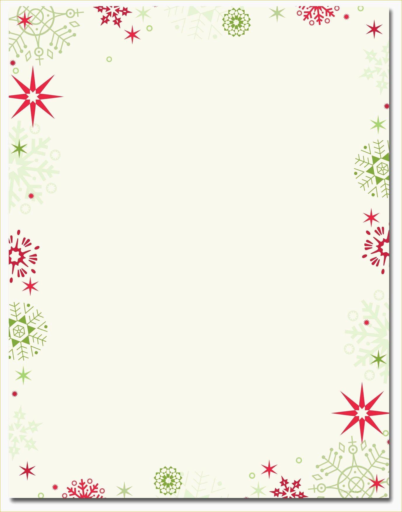 Christmas Letterhead Paper Inspirational Design Regarding Free - Free Printable Santa Letter Paper