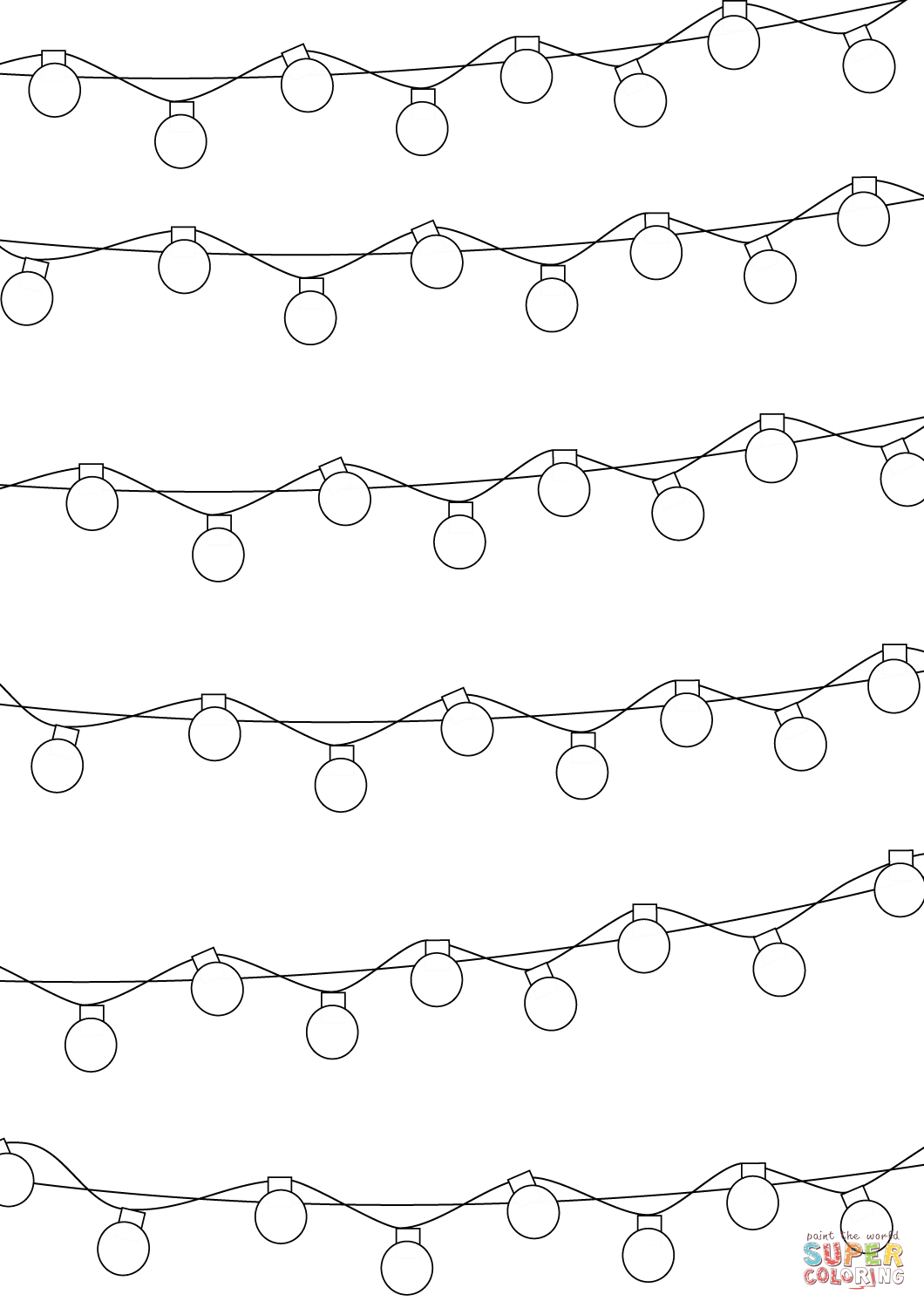 Christmas Lights Coloring Pages 2019 | Energyefficienthometips - Free Printable Christmas Lights Coloring Pages