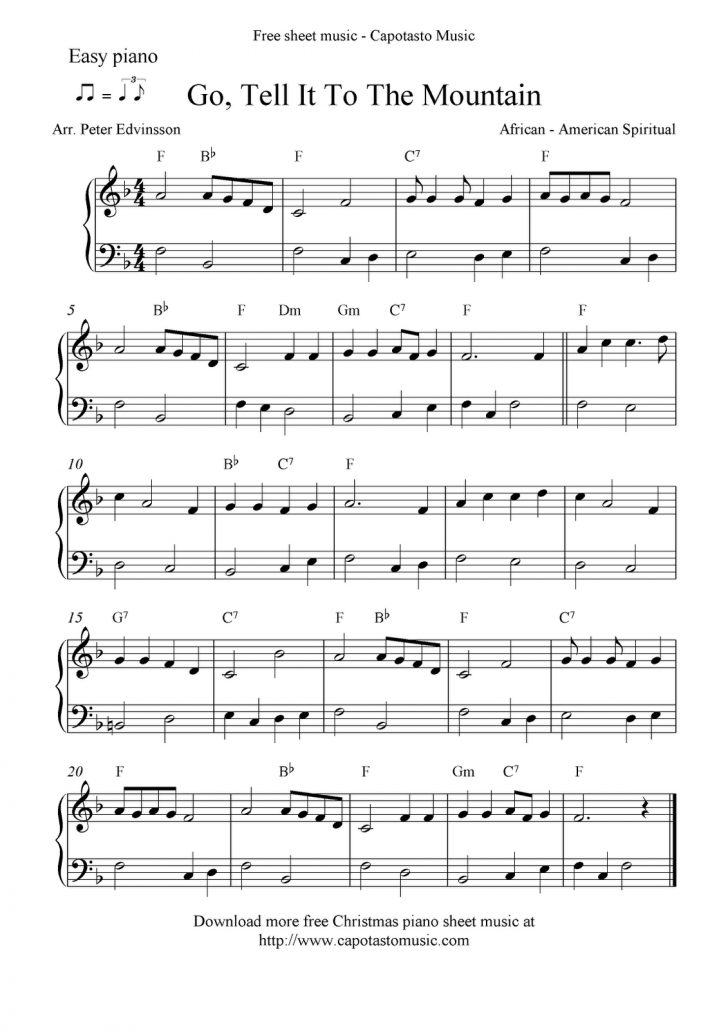 Christmas Music For Piano Free Printable