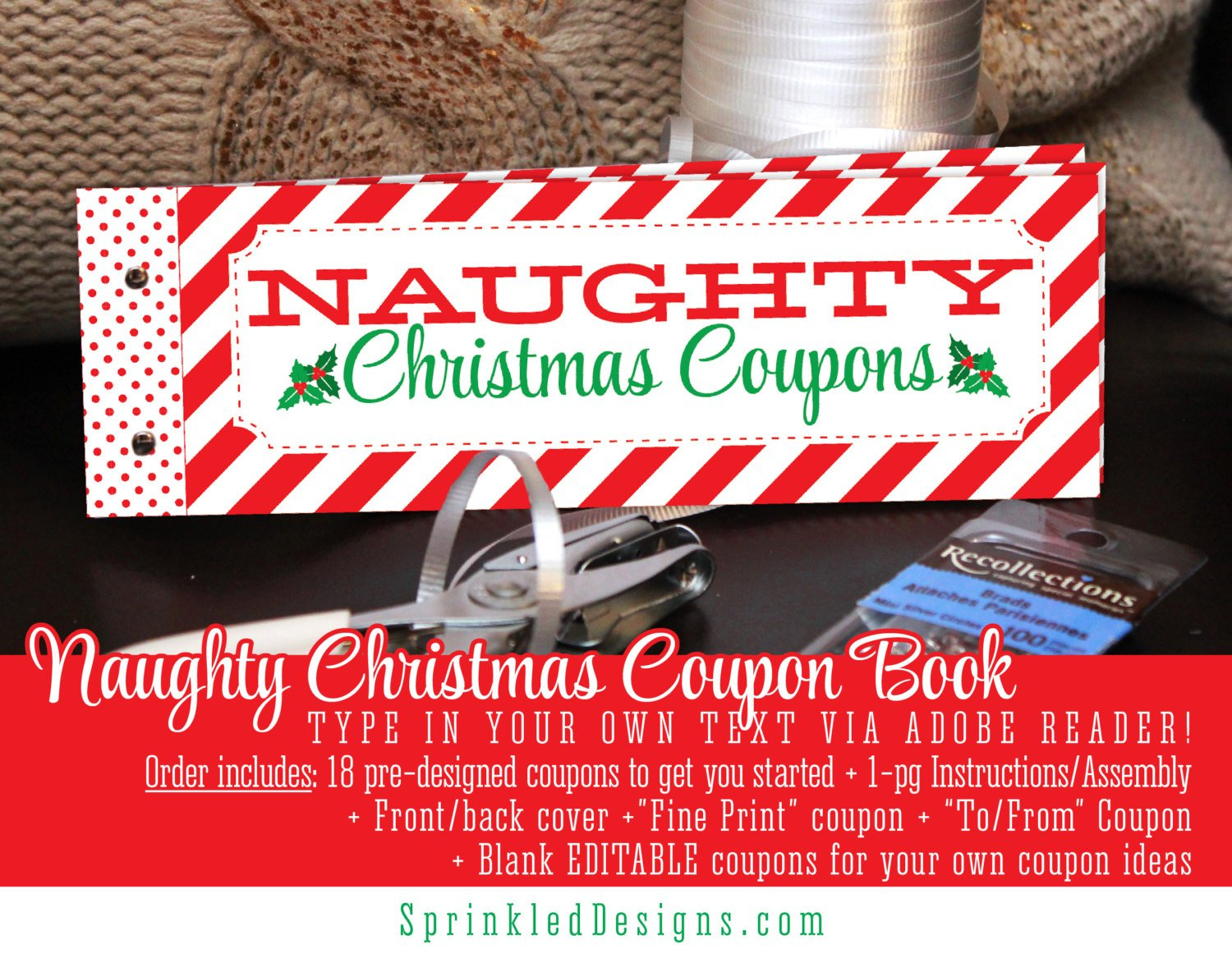 Christmas Naughty Coupon Book Sexy Christmas Gifts For Him Her | Etsy - Free Printable Coupon Book For Boyfriend