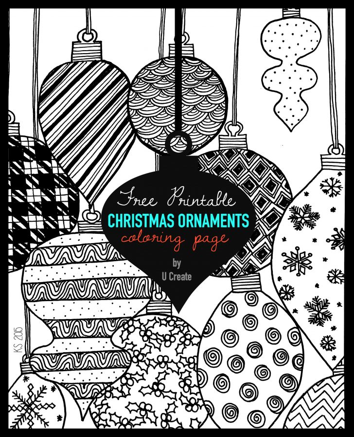 Free Printable Ornaments To Color