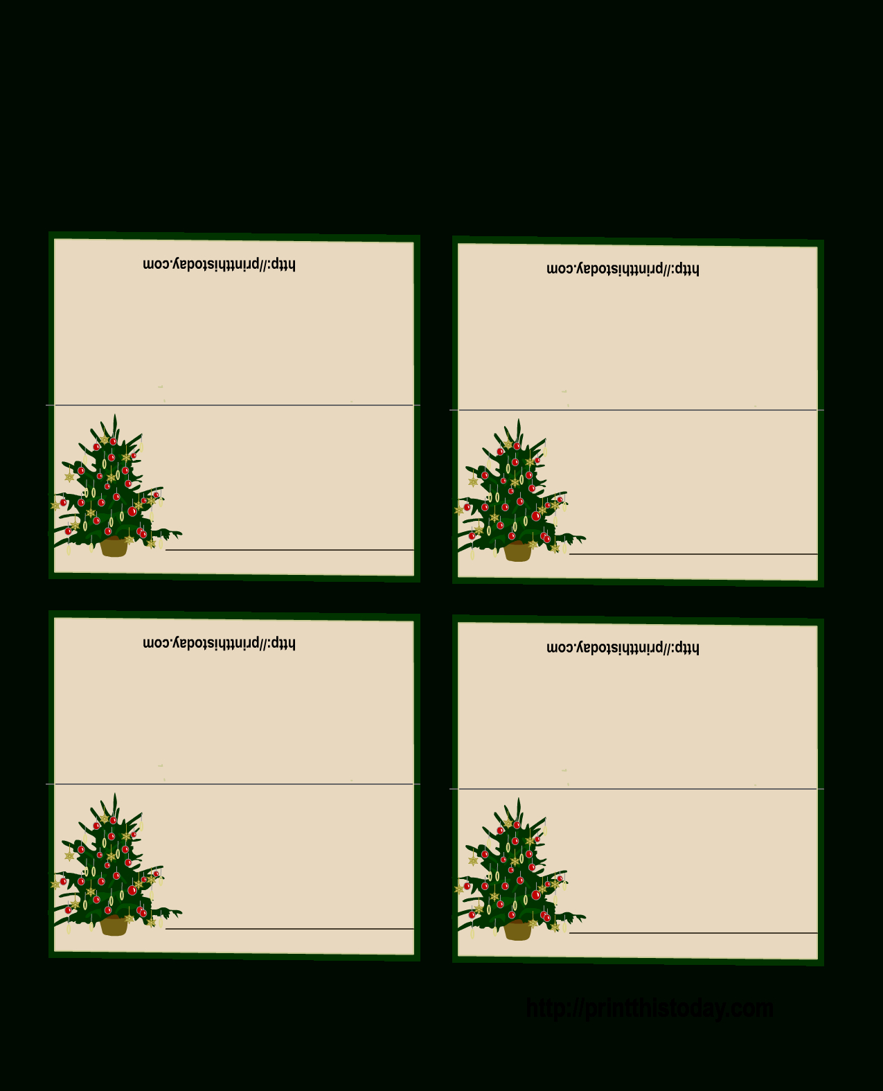 Christmas Place Cards Free Printable – Festival Collections - Christmas Table Name Cards Free Printable