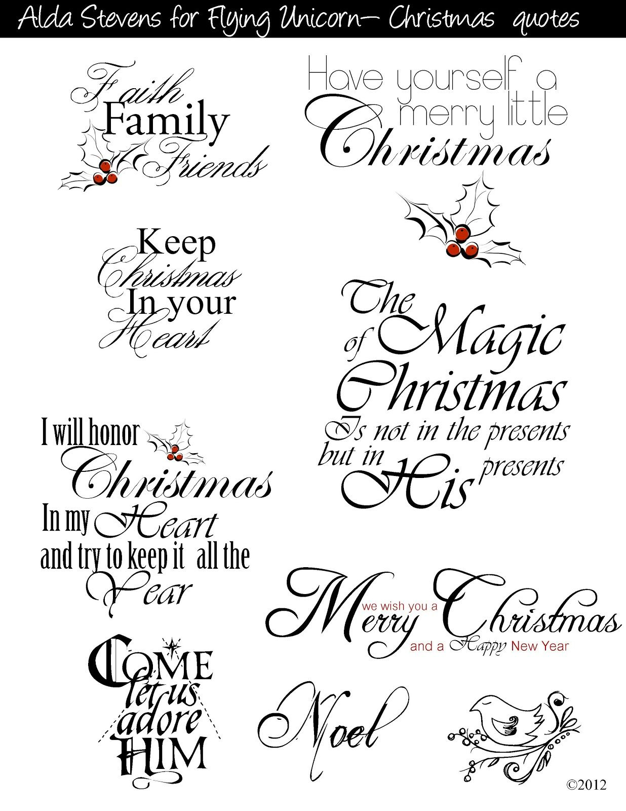 Christmas Sayings For Commercial And Personal Use | Christmas Decor - Free Printable Christian Christmas Greeting Cards