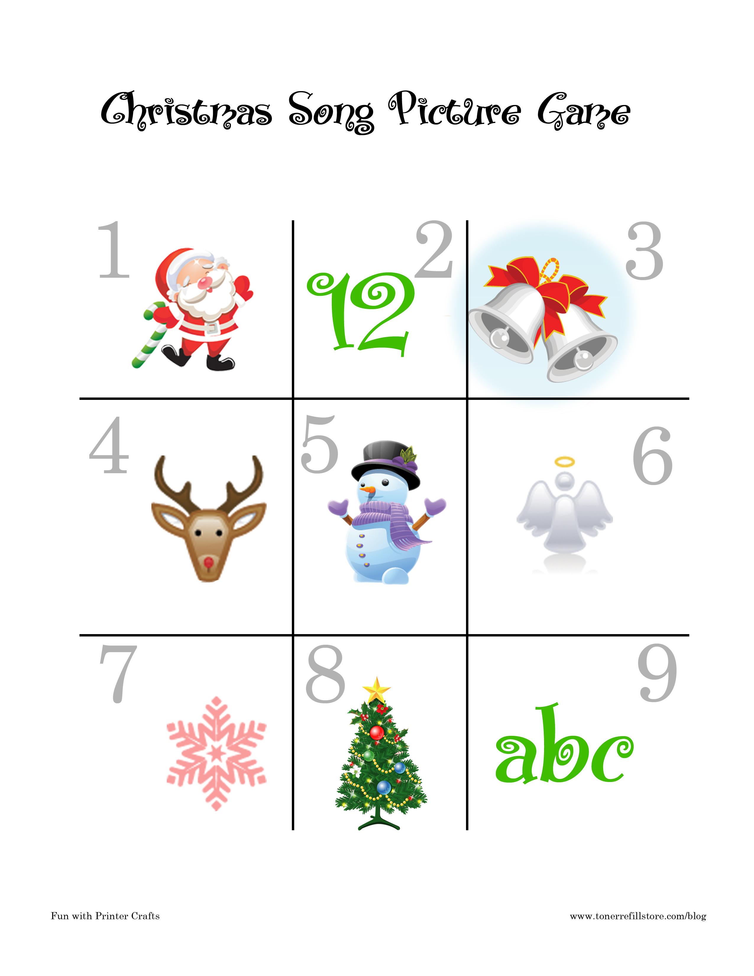Christmas Song Games : Fun Printable Christmas Games For Kids - Fun - Free Printable Christmas Song Picture Game