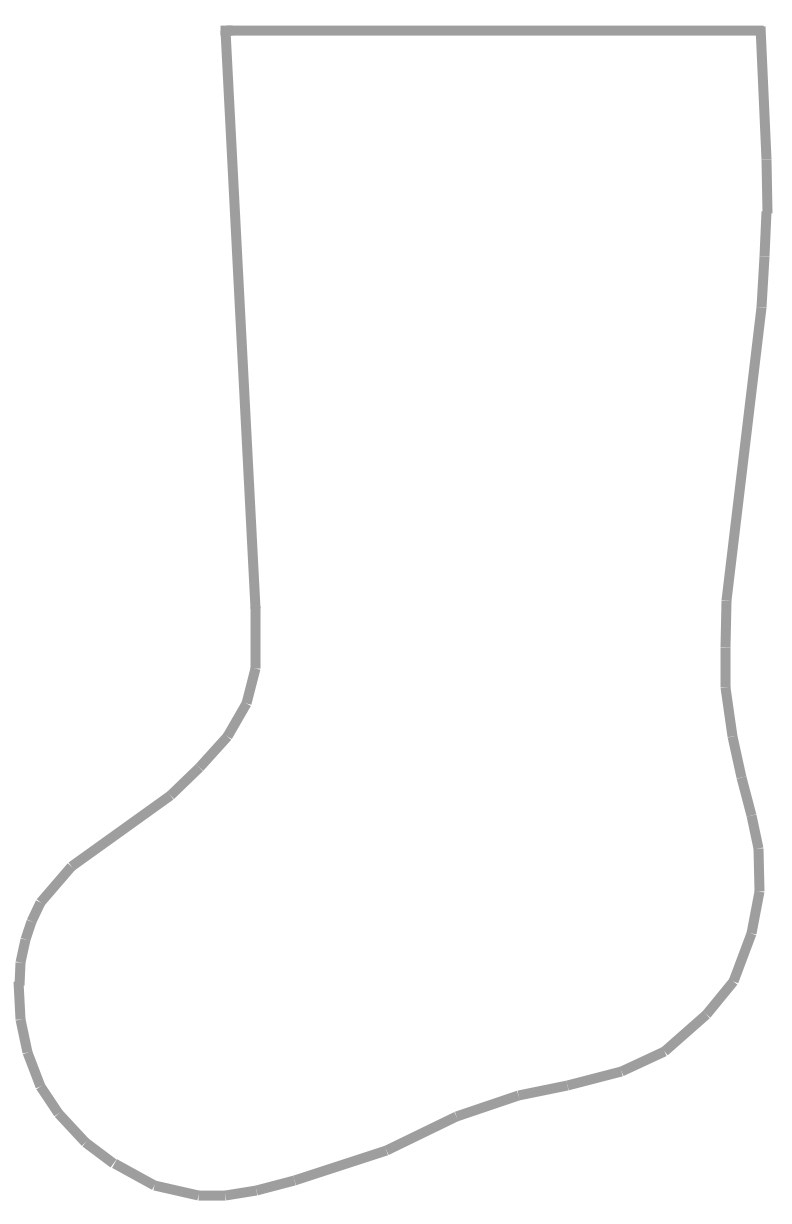 Christmas Stocking Clip Art Patterns - Rr Collections - Christmas Stocking Template Printable Free