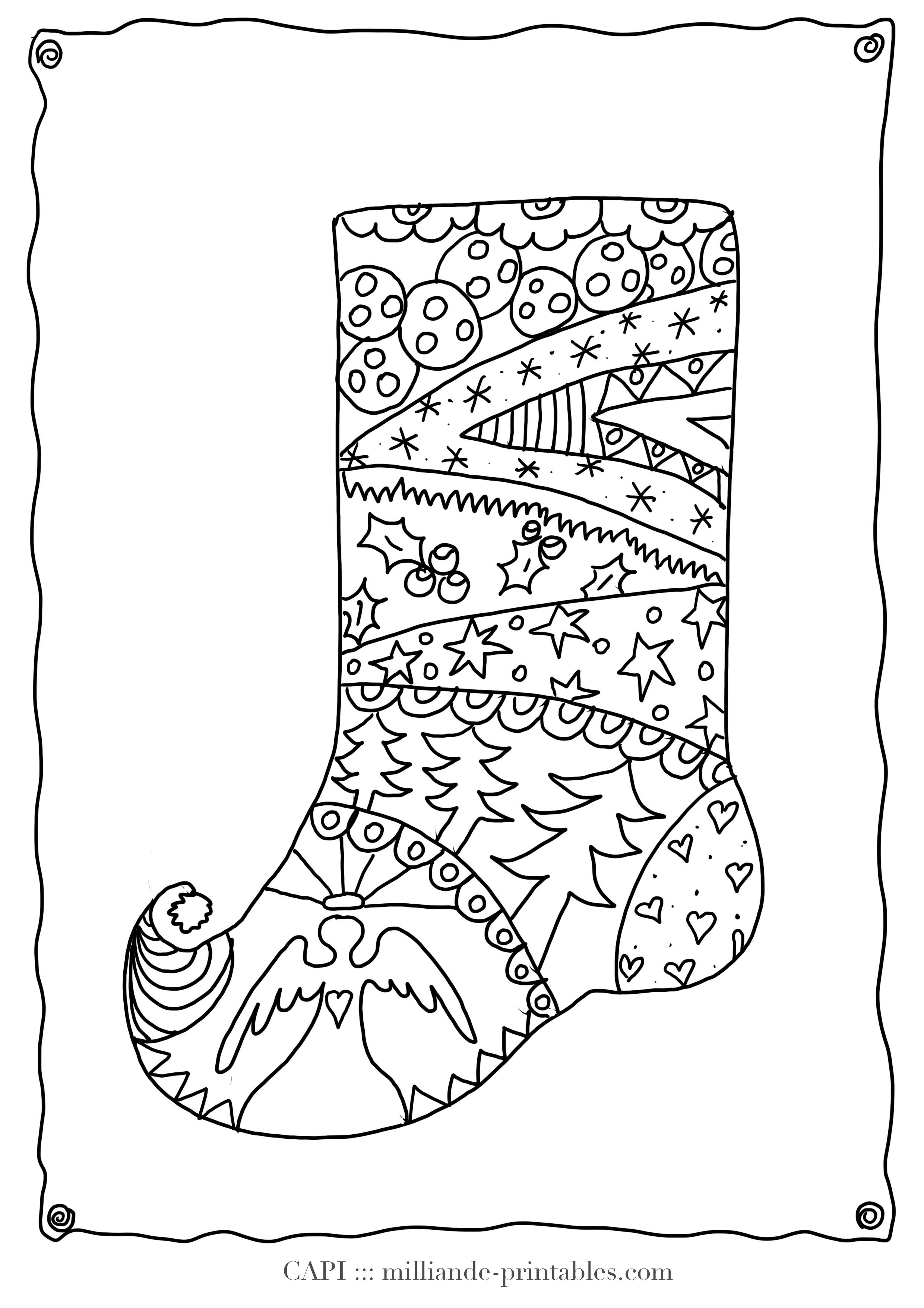 Christmas Stocking To Color Free Printable Christmas Coloring Pages - Free Printable Christmas Coloring Pages And Activities