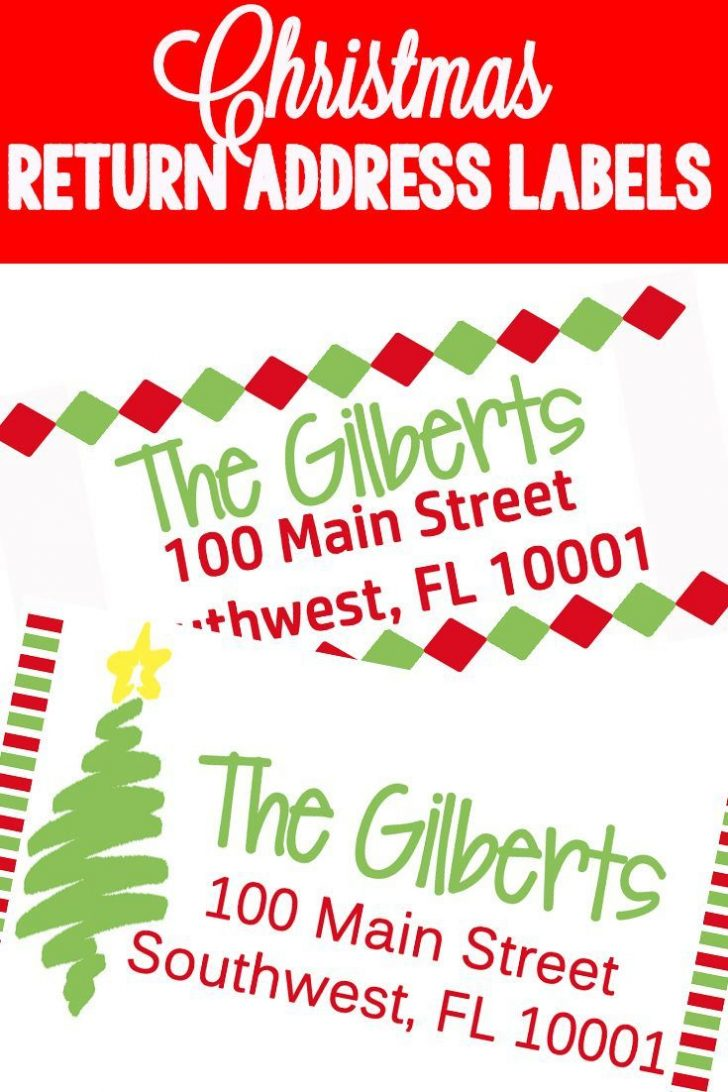 Free Printable Return Address Labels
