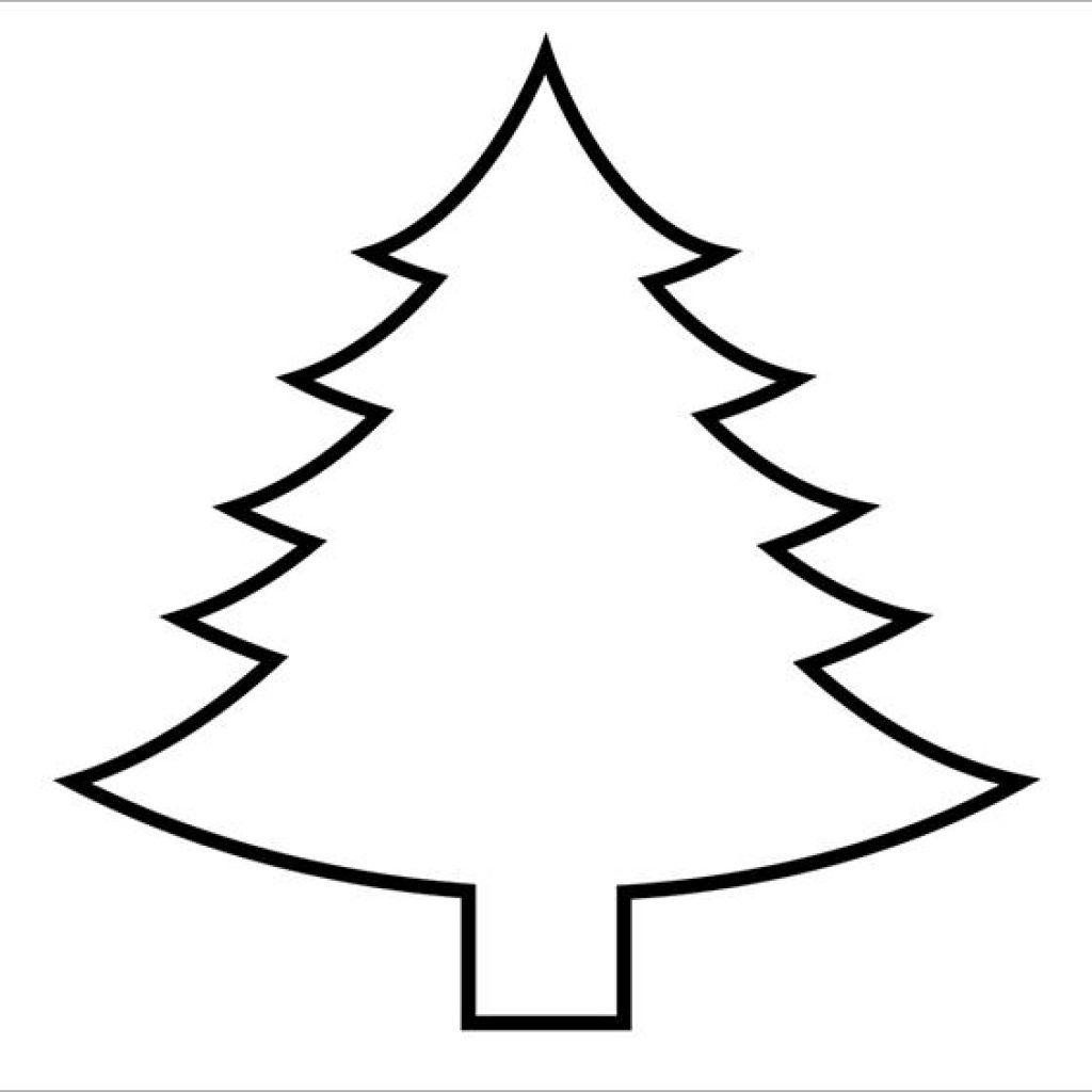 Christmas Tree Outline Printable Animal Clipart   House Clipart - Free Printable Christmas Tree Template