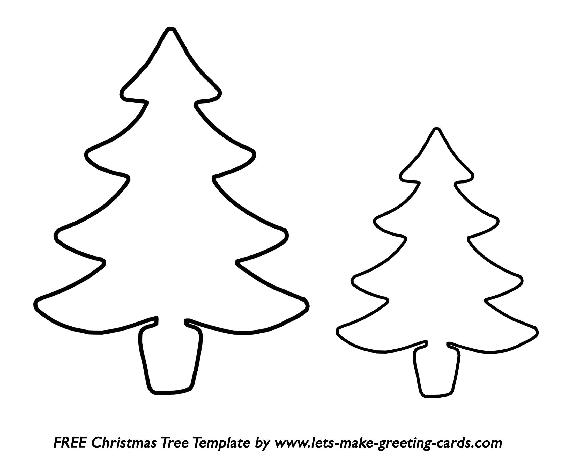 Christmas Tree Templates In All Shapes And Sizes - Free Printable Christmas Ornaments Stencils