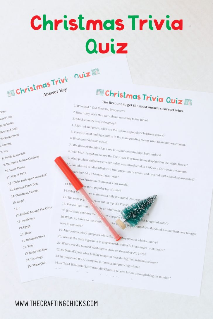 Free Printable Christmas Trivia Quiz