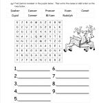 Christmas Worksheets And Printouts   Free Printable Activity Sheets For 2Nd Grade